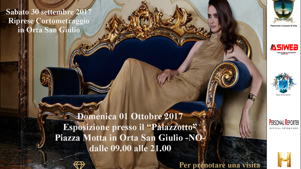 The shooting video with exhibition is over in Orta San Giulio. A success for the fashion designer Roxana Pansino